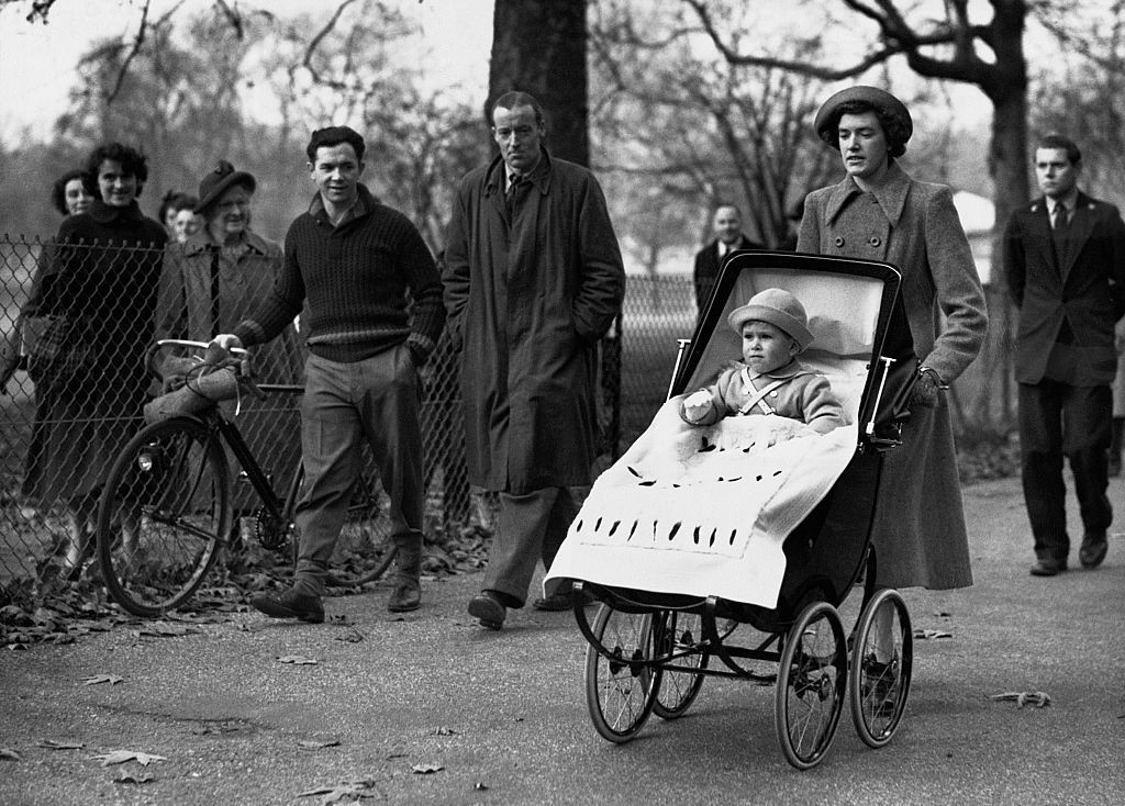Prince Charles with his nanny on his second birthday. While baby buggies have changed, the royal family continues to use classic prams to this day.