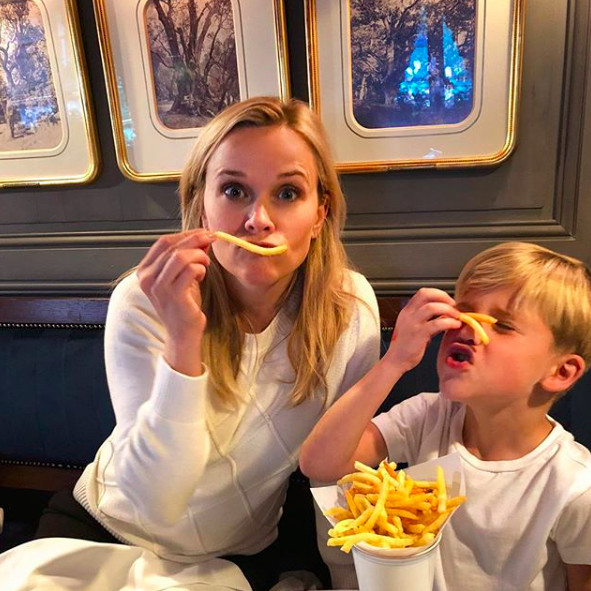 They eat french fries and play with their food