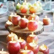 Prepare your table with apple candles