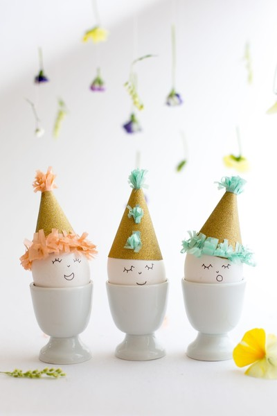 Easter Eggs In Party Hats