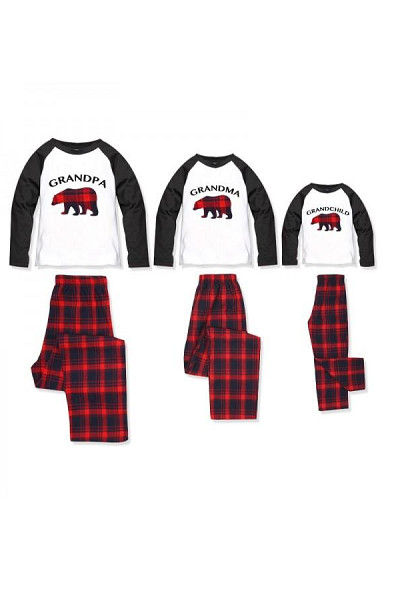 Grandparents & Grandchild Bear Pajamas